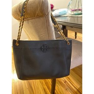 Tory Burch pocketbook bag black leather